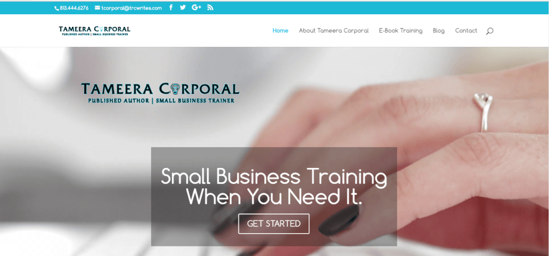 Published Author and Business Professional Trainer Website