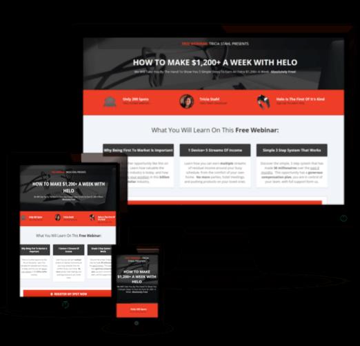 Network Marketing Webinar Funnel